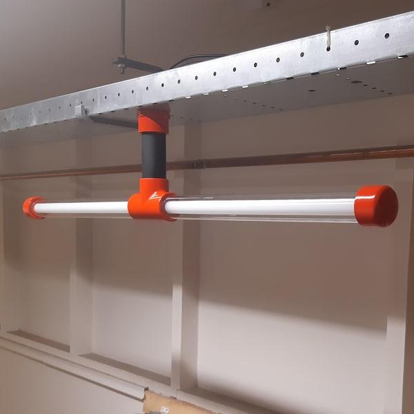 Volledig beeld van een Koppelbare Design lamp