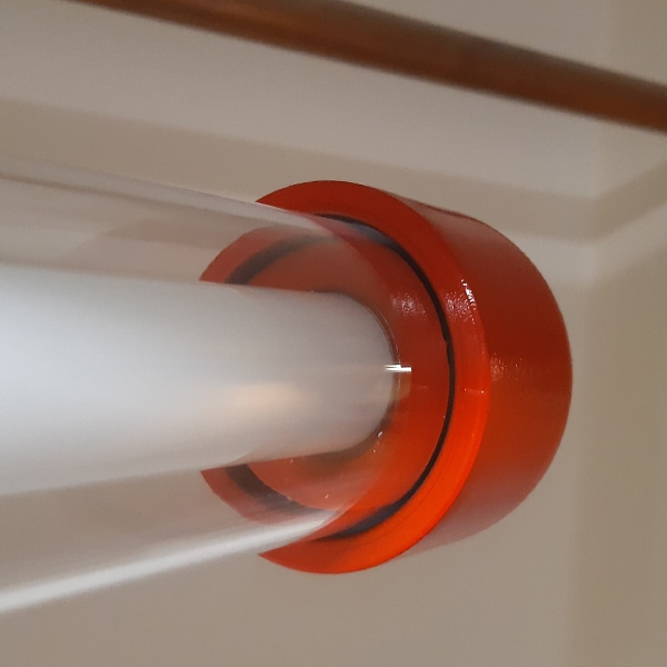 Rode Koppelbare Design lamp einddop