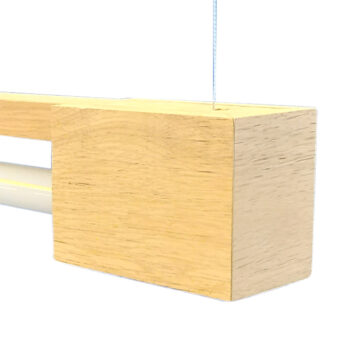 FLiRD Houten LED Buislamp detail Staaldraad