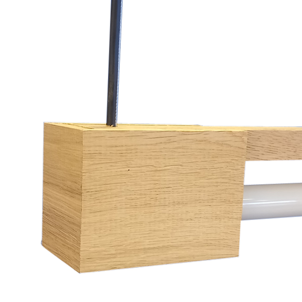 FLiRD Houten LED Buislamp detail voeding