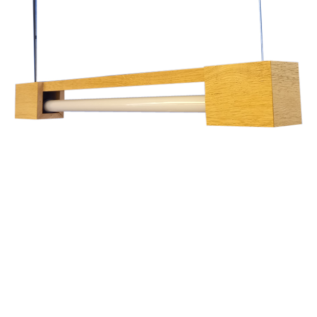 FLiRD Houten LED Buislamp volledig