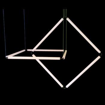 FLiRD-Krakeling-compleet-armatuur-Opaal-40-mm-plat-gedeelte-met-een-tweede-kwartslag-gedraaid